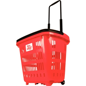 'Shop N Roll' Basket Trolley 34Ltr