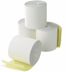 2 Ply Till Rolls 76mm x 76mm White/Yellow