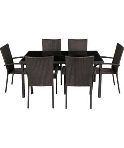 6 Seat Furniture Dining Set – Black
