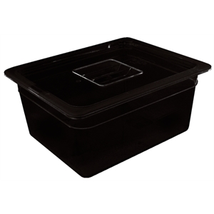 Black Polycarbonate Gastronorm Container 1/3 Size 100mm deep