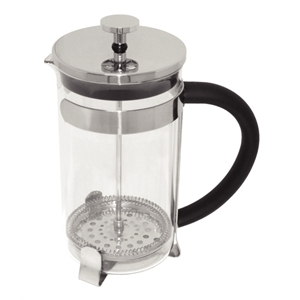 Cafetiere: Glass & Stainless Steel 12 Cup