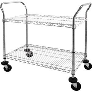Chrome Wire Trolley 2 Tier