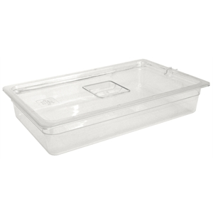 Clear Polycarbonate Gastronorm Container 1/1 Size 100mm deep