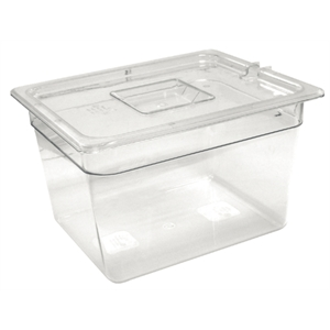 Clear Polycarbonate Gastronorm Container 1/2 Size 200mm deep