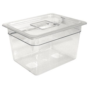 Clear Polycarbonate Gastronorm Container 1/4 Size 100mm deep