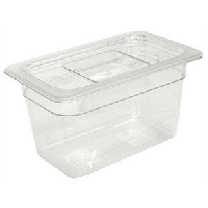 Clear Polycarbonate Gastronorm Container 1/9 Size 100mm deep