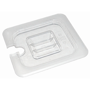 Clear Polycarbonate Gastronorm Notched Lid 1/4 Size
