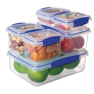 Clip-It Food Storage Container 6 Pack Variety