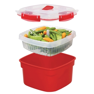 Clip-It Microwave Steamer Container 2.4 Litre