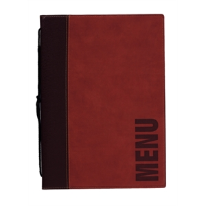 Contemporary Menu Holder - A5 Wine Red