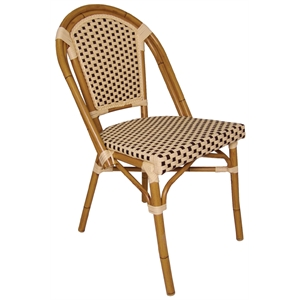 Continental Bistro Wicker Sidechair Cream and Brown (Each)