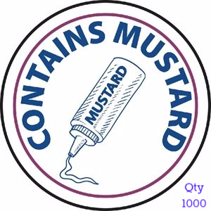 Food Allergen Label Mustard