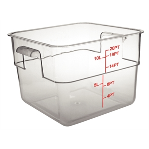 Graduated Polycarbonate Storage Container 10 Litre Square