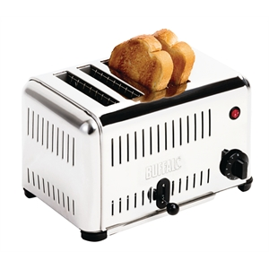 Hotel Room 4 Slot Stainless Steel Toaster