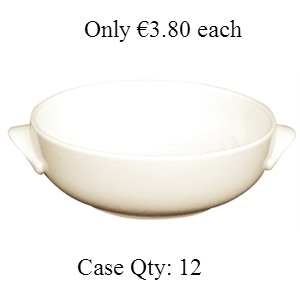 Ivory Porcelain Bowl Soup 15oz