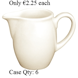Ivory Porcelain Milk Jug 1oz