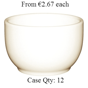 Ivory Porcelain Open Sugar Bowl 6oz