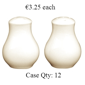 Ivory Porcelain Salt Shaker 75mm
