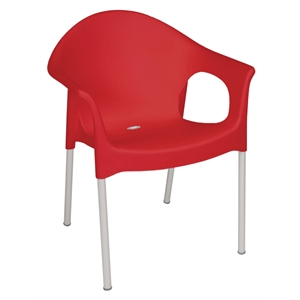 Polypropylene Stacking Bistro Armchair Red (Each)