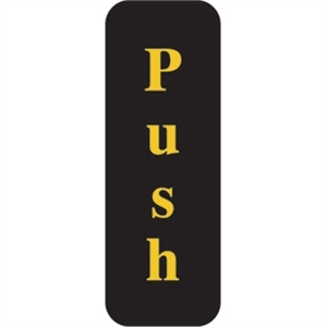 Push Sign - Vertical Text