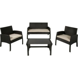 Rattan Effect 4 Seat Garden Patio Furniture Set
