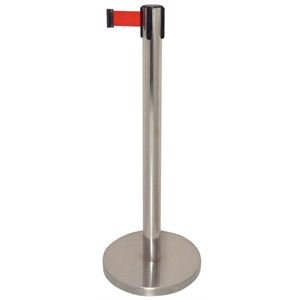 Retractable Barrier. Red Strap