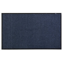Rubber Backed Floor Mat 3'x2' Blue (60x90cm)
