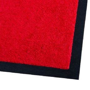 Rubber Backed Floor Mat 5'x3' Red (90x150cm)