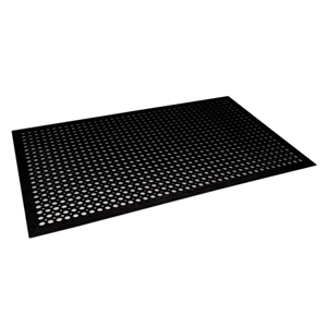 Rubber Fatigue Relief Mats 6'x4' Black (130x180cm)