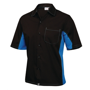 Staff Uniform Contrast Shirt Black and Blue