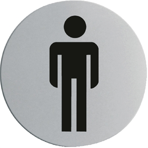 Stainless Steel Door Sign - Gentlemen