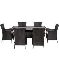 6 Seat Rattan Effect Furniture Set