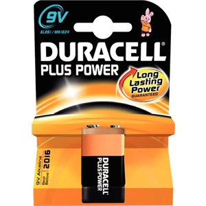 9V Duracell Battery (1 Pack)