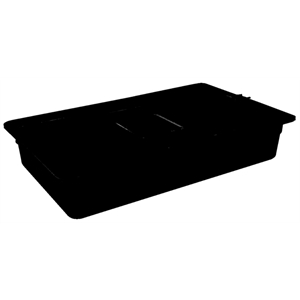 Black Polycarbonate Gastronorm Container 1/1 Size 100mm deep