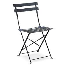 Bolero Black Pavement Style Steel Folding Chairs