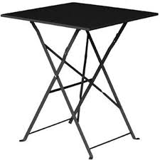 Bolero Black Square Pavement Style Steel Table