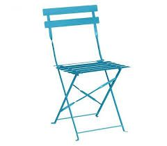 Bolero Pavement Style Steel Chairs Seaside Blue
