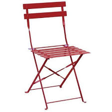 Bolero Red Pavement Style Steel Folding Chairs