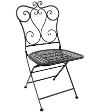 Bolero Steel Classic Folding Patio Chair Black