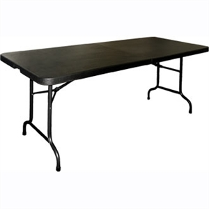 Centre Folding Utility Table 6ft Black