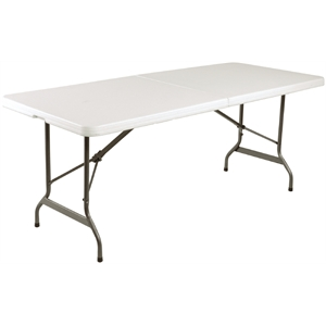 Centre Folding Utility Table 6ft White