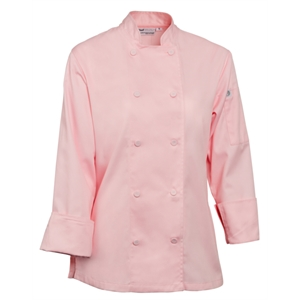 Chefs Jacket Ladies Executive Pink Long Sleeve.