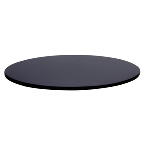 Compact Exterior Round Table Top Black 600mm