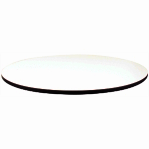 Compact Exterior Round Table Top White 600mm