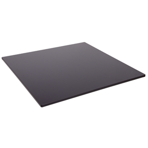 Compact Exterior Square Table Top  Black 680mm