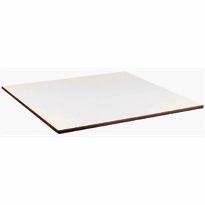 Compact Exterior Square Table Top  White 600mm