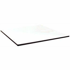 Compact Exterior Square Table Top White  680mm