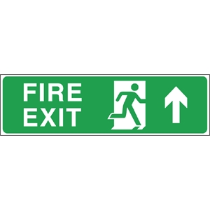 Fire Exit Arrow Up Sign