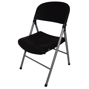 Foldaway Utility Chair Black