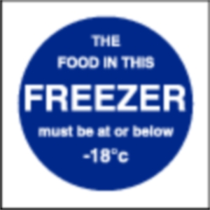 Food In This Freezer Sign